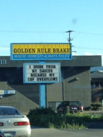 golden rule brake